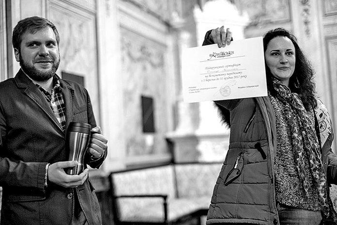 На фото: Д. Комишан і Б. Гайворонська