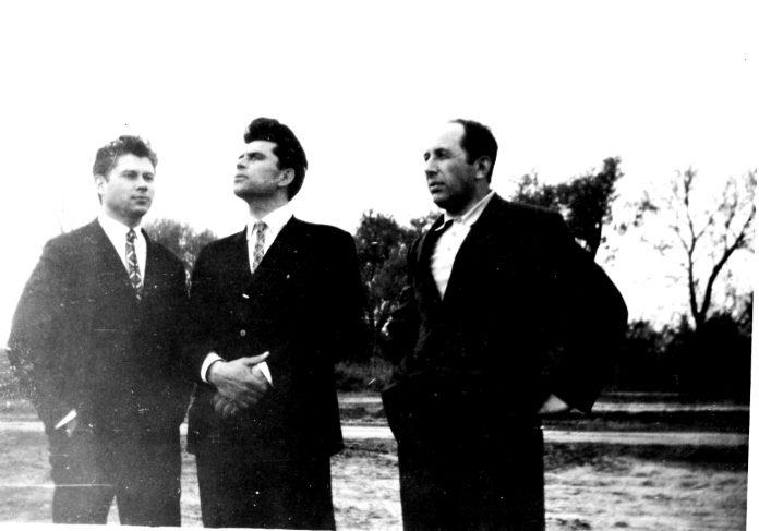 Петро Засенко, Григір Тютюнник, Феодосій Роговий. Фото Петра Ротача