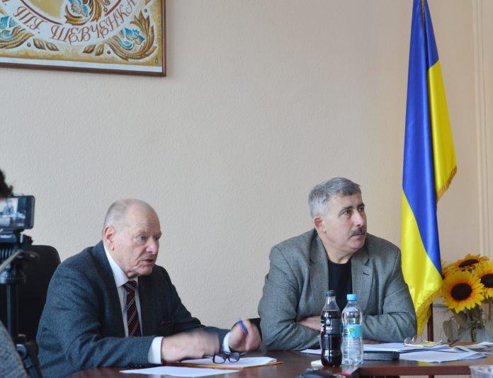 На фото: Микола Жулинський та Михайло Сидоржевський