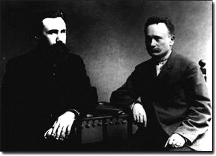 Б. Грінченко та І. Франко. 1910 р.