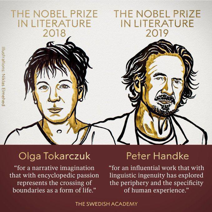 Хто отримав Нобелівську премію з літератури 2018 та 2019